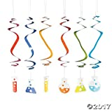 Science Party Hanging Swirls - 12 ct