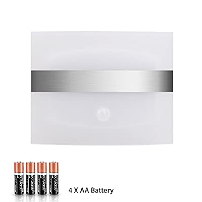Derlson Stick on Anywhere Motion Activated Wall Sconce,Wall Light, (Auto On/Off )LED Night Light for Hallway, Pathway, Staircase, Garden, Drive Way