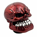 Pinovk Automatic Gear Shift Head Shifter Lever Shift Knob or Skull Manual Automatic Gear Shift Knobs(Red)