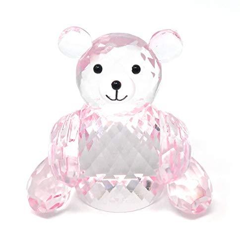Simon Designs Pink Crystal Teddy Bear
