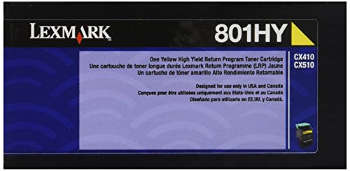 Lexmark 80C1HY0 Yellow High Yield Return Program Toner