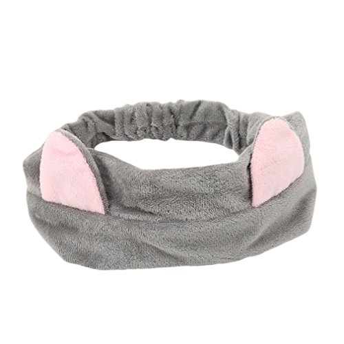 Meolin Adorable Cat Ears Hair Band Wash Face Makeup Hairband,Cloth,9.63.3in Face Hair Band