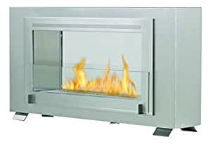 Eco-Feu Montreal 2-Sided Fireplace, Stainless Steel