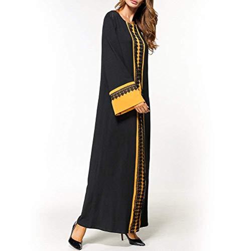 Abito Chyedas Musulmana Arabo Medio Elegante Lungo Donna Casual Oriente Nero sCxdrtBhQ