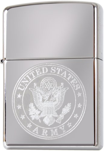 US Army Seal Eagle Circle Logo Engraved Lighter - MADE IN USA (Seal Lighter)