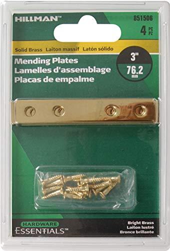 Hillman Hardware Essentials 851506 Mending Plate Bright Brass 3