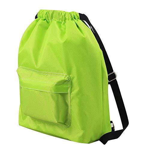 (NEARTIME Water Resistant Swim Gym Sports Dance Bag Drawstring Backpack Waterproof Wet Separation Fabric Sackpack)