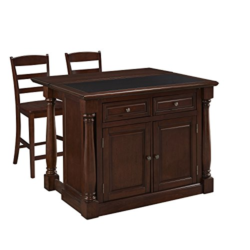 Home Styles 5007-9458 Monarch Kitchen Island and Two Stoo...