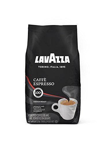 Lavazza Caffe Espresso Whole Bean Coffee Blend, Medium Roast, 2.2-Pound Bag by Lavazza