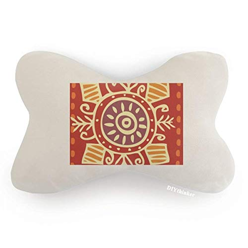 DIYthinker Red Eyes Mexico Totems Ancient Civilization Car Neck Pillow Headrest Support Cushion Pad by DIYthinker