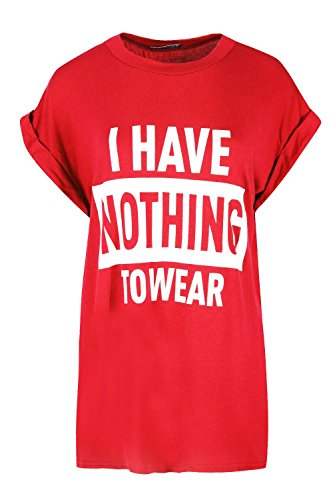 Womens T Shirt Ladies I Have Nothing To Wear Turn Up Cap Sleeve Top UK 8-14