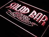 ADVPRO Salad Bar Cafe Enseigne Lumineuse LED Neon Sign Red 12'' x 8.5'' st4s32-i089-r