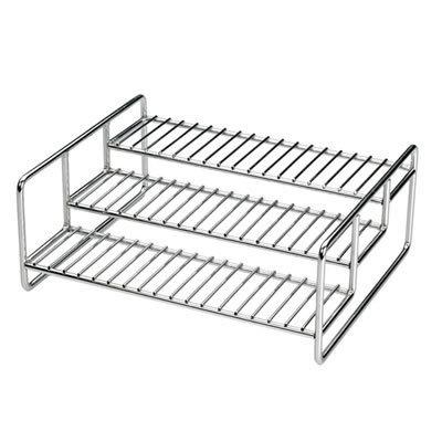 """Spice Rack - Chromed Steel (Chrome) (4.25""""h x 11""""w x 8.75""""d)"""