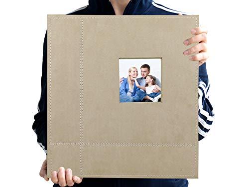 Zoview Art Magnetic Self-Stick Page Photo Album, Family Album, Suede Cover, Hand Made DIY Albums Holds 3X5, 4X6, 5X7, 6X8,8X10 Photos (Jasmine, ()