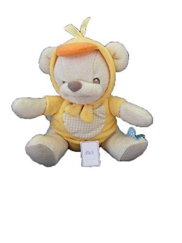 X- otros - Doudou Nature bearries oso Disfraza pato amarillo Fisher Price - 1903: Amazon.es: Bebé