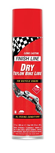 Finish Line DRY Teflon Bicycle Aerosol Spray Chain Lube, 8-Ounce