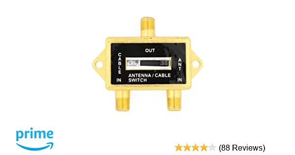 VIDEO COAXIAL A//B SWITCH ANTENNA CATV CABLE LCD TV GOLD PLATED