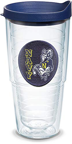 Tervis 1135992 Navy Midshipmen Logo Tumbler with Emblem and Navy Lid 24oz, Clear ()