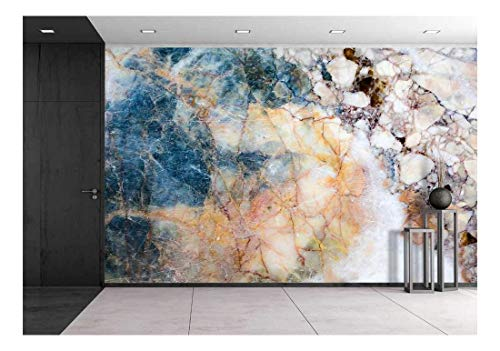wall26 - Marble Patterned Texture Background in Natural Patterned and Color for Design, Abstract Marbles of Thailand - Removable Wall Mural | Self-Adhesive Large Wallpaper - 100x144 inches