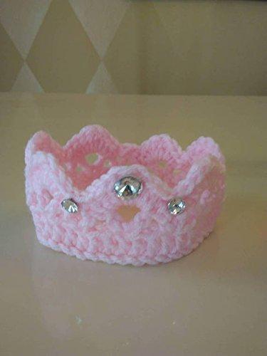 Newborn Crochet Princess Crown, Crochet Baby Crown, Newborn Tiara Headband, Newborn Crown Prop (Spare Headband)