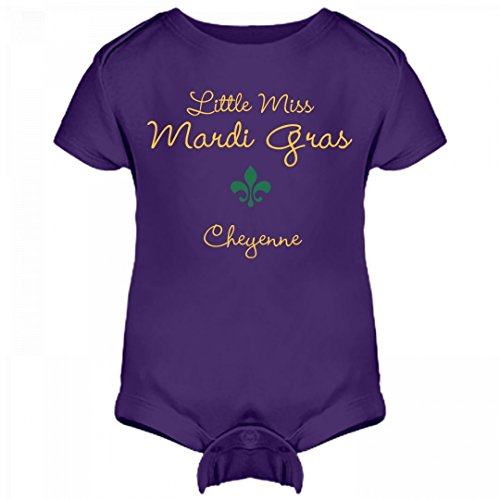 Little Miss Mardi Gras Cheyenne: Infant Rabbit Skins Lap Shoulder Creeper
