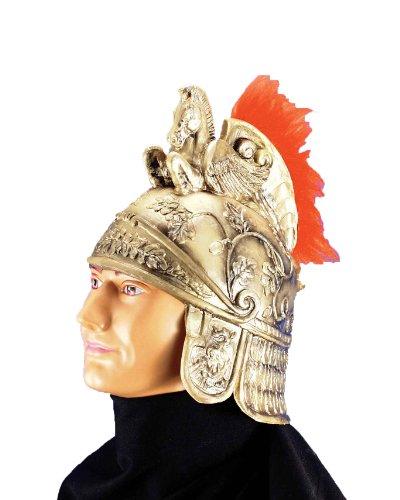 Forum Roman Costume Helmet with Crest, Gold, One