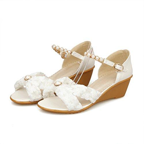 Adee , Damen Sandalen, weiß - weiß - Größe: EU 35