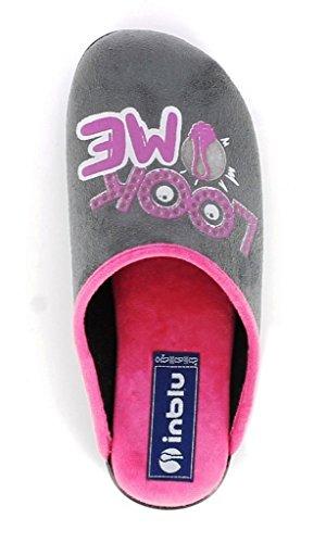 Inblu pantofole ciabatte invernali da donna art. Bq-94 grigio