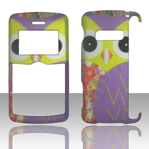 2D Yellow owl LG enV3 VX-9200, Ellipse LG9250, Keybo2 Case Cover Hard Phone Case Snap-on Cover Rubberized Touch Faceplates