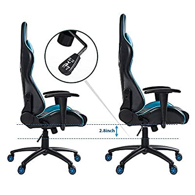 Merax High Back Gaming Chair with Lumbar Support and Headrest