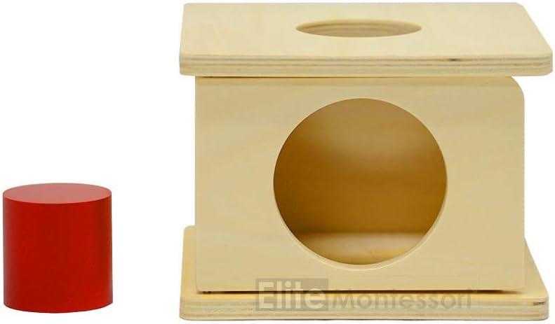 Montessori Caja Imbucare con Cilindro de color rojo: Amazon.es: Juguetes y juegos