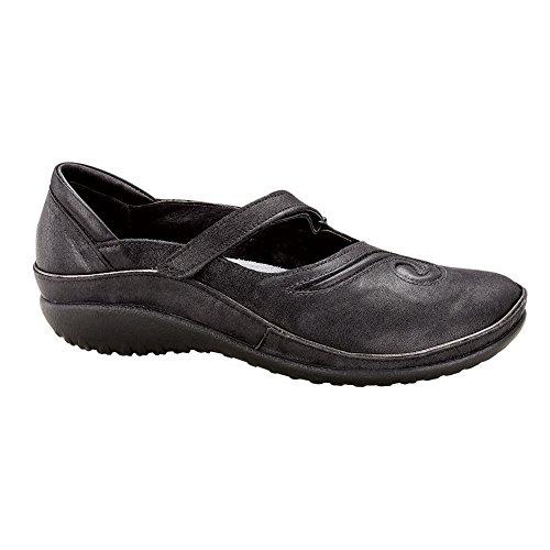 NAOT Matai Koru Women Flats Shoes Shiny Black Leather rp1Sjru