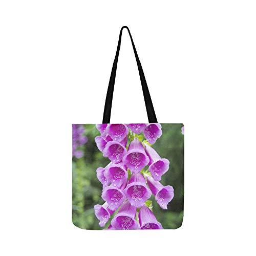 (Digitalis Purpurea Foxglove Common Foxglove Canvas Tote Handbag Shoulder Bag Crossbody Bags Purses For Men And Women Shopping Tote)