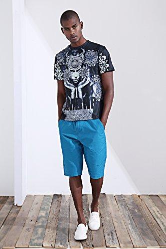 katomi Herren Kurzärmliges Shirt 3D-Druck Kurzarm Shirt Streetwear