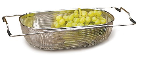 RSVP Endurance 18/8 Stainless Steel Precision Pierced In-Sink Drainer Colander