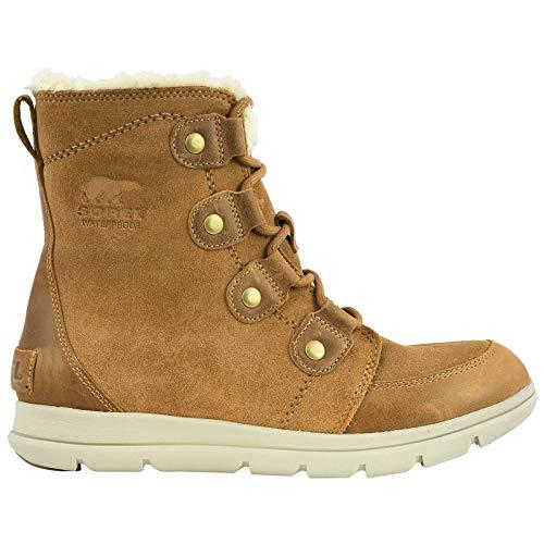 Sorel Womens Explorer Joan Snow Boot, Camel Brown/Ancient Fossil (5.5 M UK) (Best Mens Winter Boots Review)
