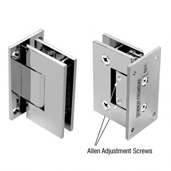 C.R. LAURENCE V1E337CH CRL Polished Chrome Vienna 337 Series Adjustable Wall Mount Full Back Plate Hinge