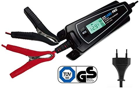 CarsPro EBC4000 18168 4 amperios cargador de batería inteligente con pantalla LCD de 6 V y 12 V