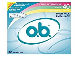 o.b. Tampons Multi-Pack, Variety Pack, 40 Count (Pack of 3)