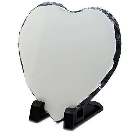 photo about Printable Heart Shape identify Printable Centre Condition White Sublimation Rock Slate Ref