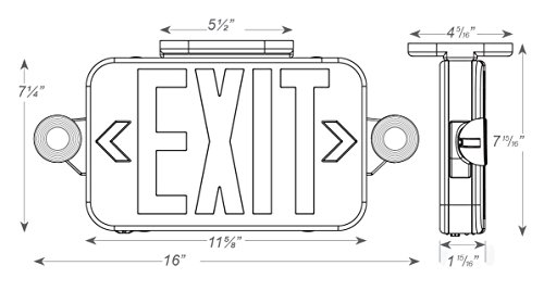 ciata lighting all led decorative red exit sign