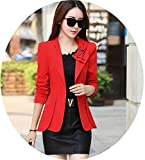 Blazers Women Clothing Suit Women Coat Jacket Short Slim and Suits Coats Female Outerwear T543,red,XXL