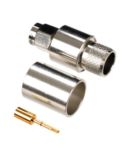 AIR802 Reverse-Polarity SMA-Plug Crimp Connector for Cable Types: RG8, AIR802 CA400, Times Microwave's LMR400, Belden 9913, Belden ()