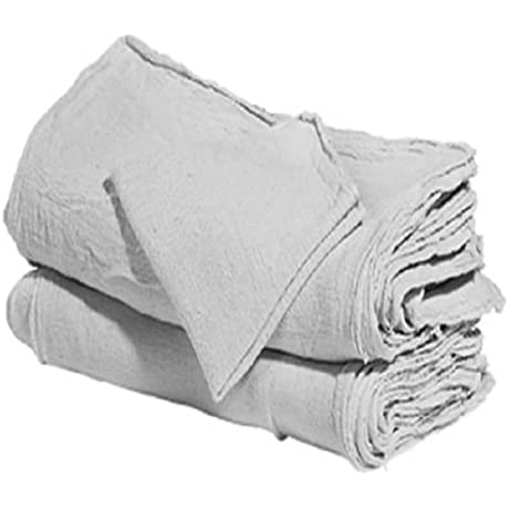 1000 Industrial Shop Rags Cleaning Towels White Commercial Towels
