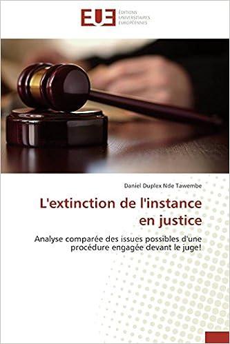 TAWEMBE-D - L'extinction De L'instance En Justice