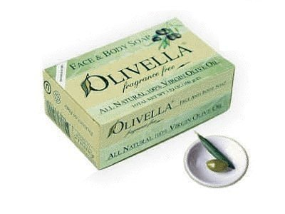 Olivella Face and Body Soap, Fragrance Free, All-natural 100 Percent Virgin Olive Oil From Italy, 3.52-oz Bars (Pack of 3) - Italy Soap