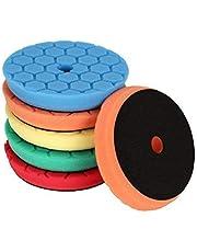 SPTA 5-delige 150 mm Hex-Logic polijstsponzen waxsponzen auto polijstspons polijstpad spons polijstschuim set voor 125 mm excentrische polijstmachine slijpmachine