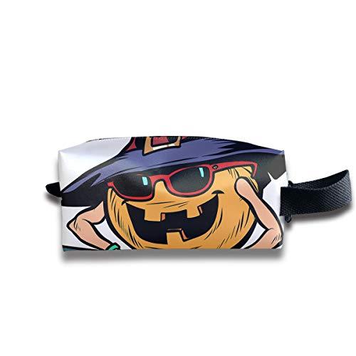 LIUYAN Hanging Toiletry Bag Halloween Pumpkin Dj Holiday Shaving Bags for Men Women Teens