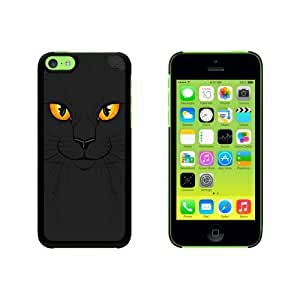 Black Cat Face - Pet Kitty Halloween Snap On Hard Protective Case for Apple iPhone 6 4.7 - Black
