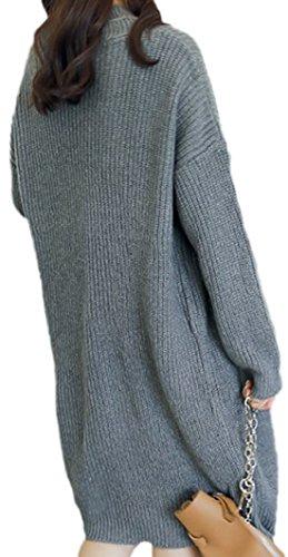 erdbeerloft - Cárdigan - Opaco - para mujer gris oscuro